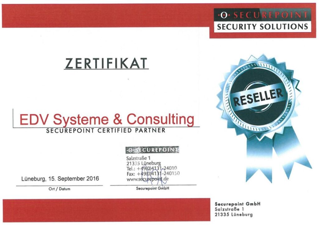 Zertifizierter Secure Point Seller